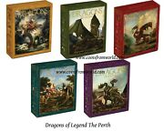 Tuvalu 2012 2013 1 Dragons Of Legend Silver Proof Coin Series 5 X 1 Oz. Set