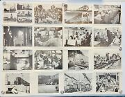 Rare Vintage American Railroad Black And White Foldable Photo Posters Set Of 2