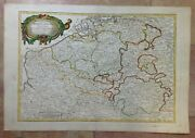 Flanders Russian Edition 1793 By Bonne Rare Large Antique Engraved Map