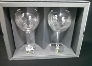 Waterford Crystal Millennium Collection Health Toasting Goblet Set.