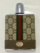 Vintage 70s 80s Plus Flask Ultra Rare Stainless Steel Barware Collectible