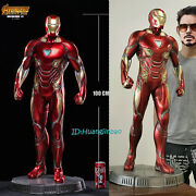Iron Man Mk50 1/2 Scale Statue Painted Resin Model Led Light In Stock Gy Studio
