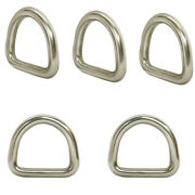 5 Pc 5/16and039and039 58mm Marine Boat Stainless Steel D Ring Welded Formed D-ring