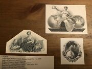 Old American Bank Note Company Vignettes Lot Of 3, Banknote Vignettes