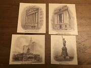 Old American Bank Note Company Vignettes Lot Of 8 Usa Buildings New York