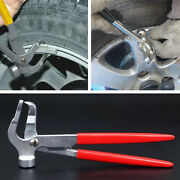 Car Automobile Tires Wheel Weight Pliers Balancer Clip Hammer Metal Alloy Tool