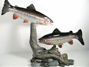 Masterand039s Edition Woodcarving - Boseman Mt - Swimming Trout Fish - 795 Of 1250