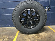 Helo He878 17x9 Black Wheels Rims 33 At Tires Package 6x5.5 For Toyota Tacoma
