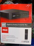 Rca Digital To Analog Tv Converter Box Stb7766c With Remote And Adapter