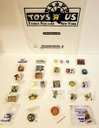 Lot Of 28 New Toys R Us Pins Vintage. Unique. Geoffrey Pin Tru Kids Times Square