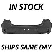 New Primered Rear Bumper Cover Replacement For 2018 2019 Hyundai Sonata W/ Park