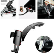 Black Aluminum Car Phone Holder Air Vent Mount Stand For Iphone 8 X Samsung S8