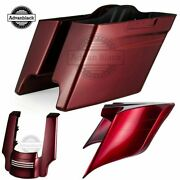 Velocity Red Sunglo Stretched Saddlebag Bottoms+rear Fender Extension+side Cover