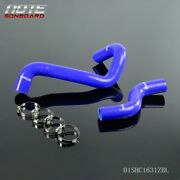 Fit For Nissan Datsun 280z S130 L28 75-78 Blue Silicone Radiator Coolant Hose