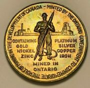 1967 Canada Centennial Of Canadian Confederation Miner Color Toned Coin