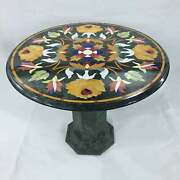 21x21collectible With Stand Marble Dining Table Top Floral Inlay Design Decor