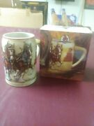 Anheuser-busch Budweiser Beer Stein 1991 Clydesdales On Parade New In Box