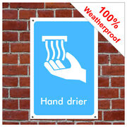 Hand Dryer Symbol Sign Inf11 Toilet, Restroom And Changing Room Signs