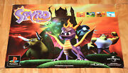 Spyro The Dragon Old Vintage Game Store Promo Poster Ps1 Rare Collectible 1998