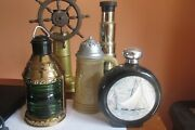Lot Of 5 Vintage Empty Old Spice Nautical Decor Style Cologne Bottles