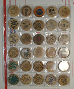 Lot Of 30 Mixed Vintage Wooden Nickels, Many Older Designs, Cool 0713-03