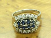 14kt 585 White Gold Ring With 072ct Brilliant And 080ct Sapphire Trim / Rg 605
