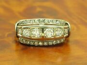 14kt 585 White Gold Art Deco Ring With 070ct Brilliant And 030ct Diamond/rg 625
