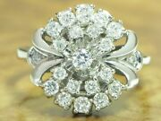 14kt 585 White Gold Ring With 075ct Brilliant Decorations/ Diamond/ 42g/ Rg 50