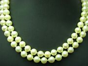 Akoya-pearls Chain With 14kt 585 Gold Clasp And 045ct Diamond Decorations/37cm
