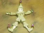 18kt 750 Yellow Gold Jumping Jack Pendant With 073ct Brillant And 031ct Ruby