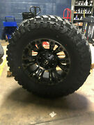 18x9 Fuel Vapor D569 35 Atturo Mt Wheel And Tire Package 8x170 Ford Super Duty