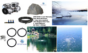 New Fish And Lake Pond Aeration Kit 3 Diffusers 100and039 Tube Rock Cover 2yr Warranty