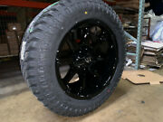 20x10 Fuel D575 Coupler Black Wheels Rims 33 At Xt Tires 6x135 Ford Expedition