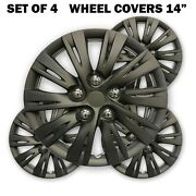 Hs 45.490 Wheels Covers Hub Caps Matt Charcoal 14 Set Of 4