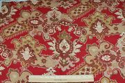Antique French Turkey Red Printed Cotton Ethnic Kilim Home Fabric28x32design