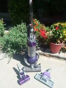 Dyson Dc25 Animal Ball Bagless Upright Vacuum Cleaner Purple+ Extras