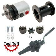 28 Gpm 2-stage Hydraulic Log Splitter Pump Mount Coupler And High Flow Valve Kit