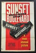 Sunset Boulevard Original Movie Poster - Swanson - Holden Hollywood Posters
