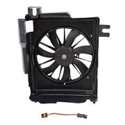 A/c Condenser Cooling Fan And Adapter For 02-08 Ram 1500 03-09 2500 3500 Pickup