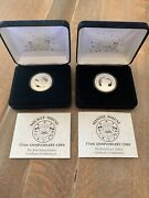 2- Silver Coins Mickey Mouse And Minnie Mouse 75th Anniversary Coin