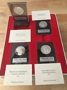 Rare 1971-75 Franklin Mint Sterling 20 Silver Round Medal Christmas Holiday