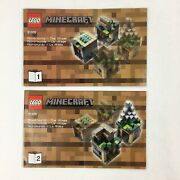 Lego Minecraft 21105 Instruction Manual Micro-world Village 2 Booklets Only
