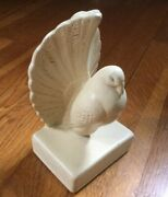 """Vintage Chalkware Eagle Pigeon Bookend By Coventry Ware 6"""" Tall"""