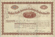 1897 Alaska British North American Trading And Exploration Co Stock Certificate