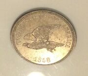 1858 Flying Eagle Cent Super Rare Judd Pattern J-206 Anacs Proof 62 10539