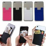 Silicone Mobile Phone Credit Card Pocket For Micromax Bolt Ad4500