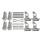 Ps 4-link Kit 4130 Brackets Round Tube Backhalf And Housing Brackets 3-1/4and039and039 Axle