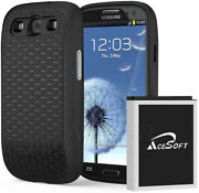 Extended 7570mah Battery + Back Cover Case + Charger For Samsung Galaxy S3 I747