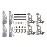 Pro Series 4-link Kit, 4130 Universal Brackets, 3 Axle Hole, With Doublers