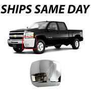 New Chrome Front Lh Drivers Bumper End For 2007-2010 Chevy Silverado 2500/3500